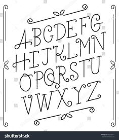 Outlined Alphabet Set : Vector Illustration