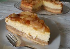 Jemný tvarohový koláč s karamelizovanými jablkami (fotorecept) - recept | Varecha.sk Sweet Recipes, Cheesecake, Treats, Coffee, Desserts, Basket, Sweet Like Candy, Kaffee, Tailgate Desserts