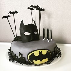 "My superboys 6th birthday cake! ""Always be yourself unless you can be a Batman, then always be a Batman"""