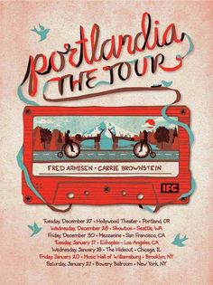 Portlandia - the tour By DKNG #poster #illustration