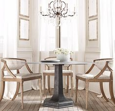 1000 images about dining in a small space on pinterest small dining tables dining sets and - Small spaces restoration hardware set ...