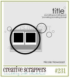 Creative Scrappers Sketch 231. October 21. 2012.