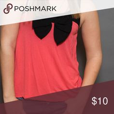 Blouse Pink blouse, black bow Divided Tops Blouses