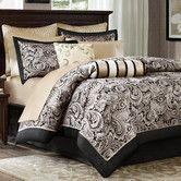 Elegant details give the Aubrey 6 Piece Quilted Coverlet Set by Madison Park a refined look. This six piece bedding set features a quilted coverlet,. Luxury Comforter Sets, Queen Comforter Sets, Bedding Sets, King Comforter, Black Comforter, Coverlet Bedding, Queen Duvet, Tan Bedding, Bedroom Comforters