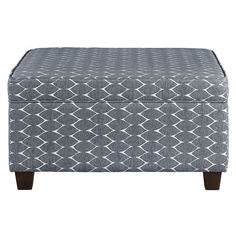 Amazon.com: Aniston Storage Ottoman Patterned Fabric Stylish Solid Wood Attractive Books Blankets Pillows Seating Foot Rest-Grey: Kitchen & Dining
