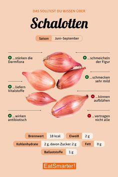 Das solltest du über Schalotten wissen | eatsmarter.de #zwiebel #ernährung #infografik