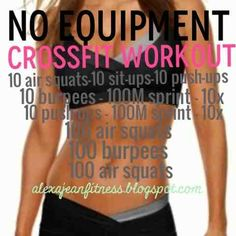 Fitness & Health: No Equipment - CrossFit Workout