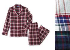 0dfff9e075 Laura Scott Womens Flannel Pajama Top Pants Plaid size M XL NEW https