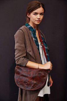 Frye Becca Half-Moon Leather Crossbody Bag