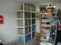 Easy to build garage shelves