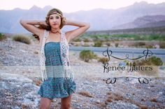 model Rian  headband by  Photographed by Renee Waters Photography