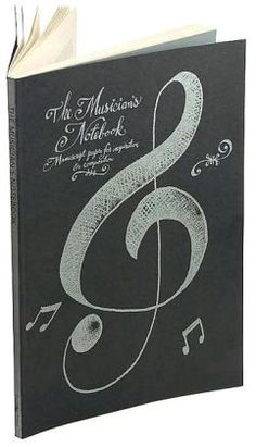 345ace86503 Musician s Black Notebook  Manuscript Paper for Inspiration and Composition  Gift For Music Lover