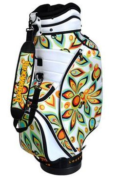Loudmouth White Shagadelic Golf Staff Cart Bag