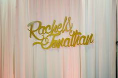 Gold lasercut names- love this wedding detail!