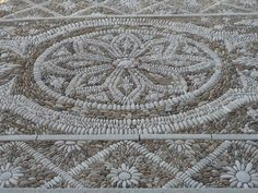the pebble mosaic pavement at the church of Our Lady in Trapani