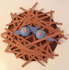 Kids will love learning about birds and how they build their nests while making this fun bird's nest craft. Use different colored plastic eggs to learn about bluebirds, cardinals (redbirds), robins, etc.