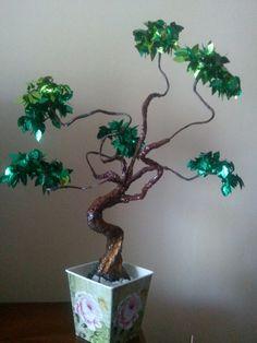 Bonsai cu frunze din paiete-50 cm inaltime