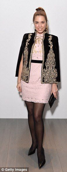 Next generation: Amber Le Bon looked sensational in a rose pink mini-dress as she led the ...