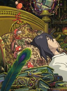 """I'm such a big coward; all I do is hide. All of this magic is to keep everybody away."" -Howl's Moving Castle"