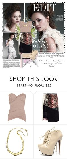 """""""Christina Ricci"""" by ladydzsen ❤ liked on Polyvore featuring Agent Provocateur, Preen, Sequin, AX Paris and Style Tryst"""