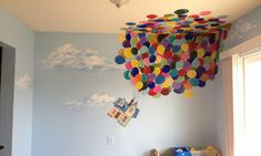 UP Mural. I wish I could have a house so we could paint this in a room. So pretty,