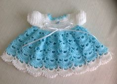 Newborn Crochet Baby Dress PATTERN by JeansNeedles on Etsy, $4.99
