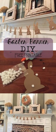 Easter Banner -Free Printable - House of Hargrove
