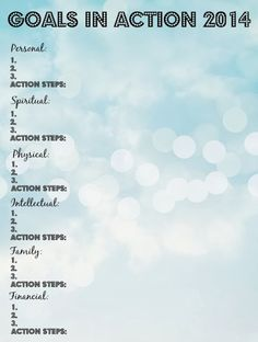 My Goals in Action for 2014 + a {Free} Printable Goal Outline - Bare Feet on the Dashboard