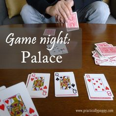 Palace Card Game - Easy game to learn and set up for 2-4 players
