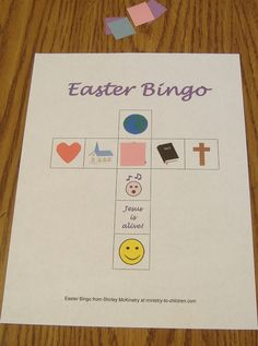 Easter Bingo Game for Children at Church