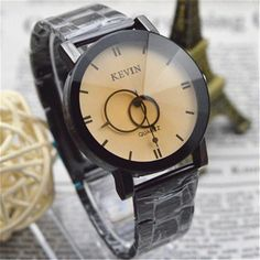 Women Watches Men relogio masculino reloj Delicate Design Black Stainless Steel Band Round Dial Quartz Wrist Watch Women Gift 5* #Affiliate