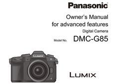 Panasonic Lumix G85/G80 Manual for Download