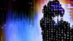 Streaming Data Abstraction Stock Photo: 10876
