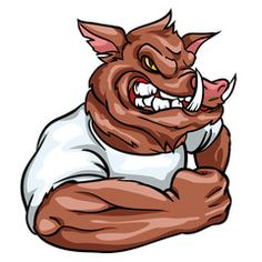 Find hog stock images in HD and millions of other royalty-free stock photos, illustrations and vectors in the Shutterstock collection. Team Logo Design, Mascot Design, Strongest Animal, King Tattoos, Cow Painting, Car Bumper Stickers, Cartoon Styles, Character Design, Drawings