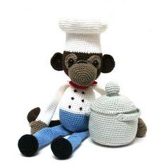 ༺༺༺♥Elles♥Heart♥Loves♥༺༺༺ ........♥Crochet Amigurumi♥........ #Amigurumi #Patterns #Crochet #Softies #Childrens #Toys #Handmade #Teddy #Doll #Tutorial #Patterns #Collectable~ ♥Stunning Patterns by Cristel Krukkert Monkey Philippe