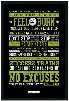 ''Gym'' Motivational Framed Wall Art #ad
