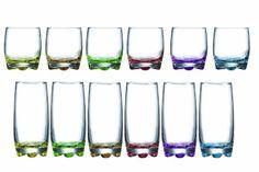 Novastyl 7069124 Adora Lot de 12 Pièces de Service 6 Gobelets de Forme Basse 27 cl + 6 Gobelets de Forme Haute 37 cl 24,2 x 16,2 x 24,2 cm