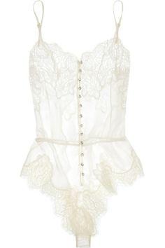Hello Honeymoon! White lace lingerie~something old, something new, something naughty?...