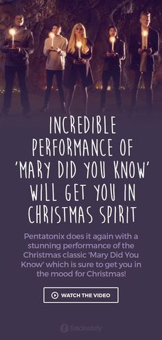 Incredible Performance of 'Mary Did You Know' Will Get You in Christmas Spirit