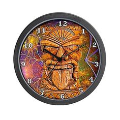 CafePress  Tiki God Wall Clock  Unique Decorative 10 Wall Clock -- Check this awesome product by going to the link at the image.