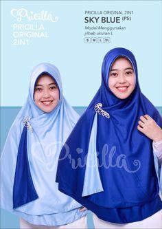 Jilbab Muslimah Pricilla Original Ukuran M