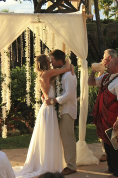 Quiero un matrimonio así, simple, divino :)