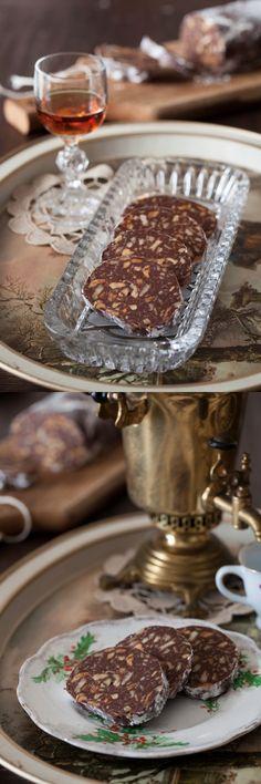 chocolate salami slatka salama recipe recept easy no bake nuts crushed butter cookies raisins better baking bible blog easy christmas holida...