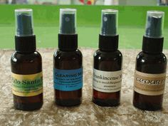 Good info~ Essential Oil Meditation Sprays Cedar Mist can be used in rituals to bring balance and calmness to your energy. It is also known for promoting spirituality.  Clearing Mist can be used to bring a balance of your masculine and feminine energies.  Frankincense Mist is useful for visualizing, centering and improving one's spiritual connection.  Palo Santo Mist is beneficial for meditation. It can bring deeper concentration, the seeing of colors or auras and even angels. It can also...