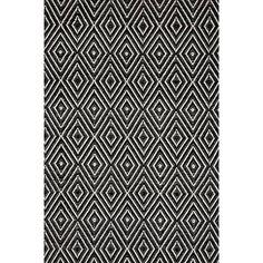 Woven Black & Ivory Diamond Area Rug Dash and Albert Rugs Rug Size: 2' x 3'