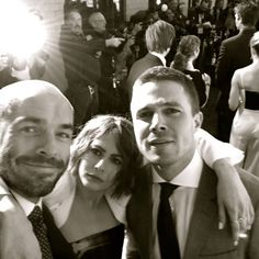 Arrow - Paul Blackthorne, Willa Holland & Stephen Amell