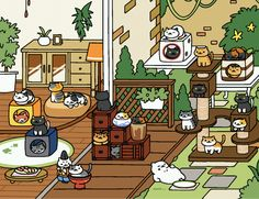 We explore the hidden secrets of Neko Atsume, the curiously moreish cat collecting mobile game for iOS and Android, to bring you the best tips and tricks for building your fluffy collection. Neko Atsume Wallpaper, Neko Atsume Kitty Collector, Really Cool Drawings, Neko Cat, Kitty Games, Pokemon, Cute Anime Couples, Cute Illustration, Cats And Kittens