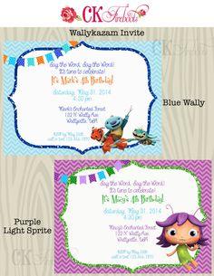 Wallykazam Birthday Invite by ckfireboots on Etsy, $10.00