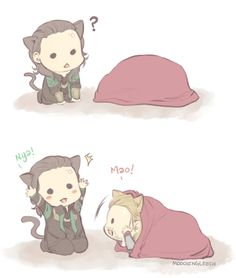 I don't know why I love Loki and Thor as kitties so much, but I do ^_^ (I shouldn't give him any ideas, should I?)