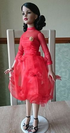 "TONNER 18"" KITTY COLLIER DOLL SCARLET DRESS FROM WEEKEND AFFAIR TRUNK HTF 